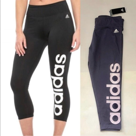 Adidas Pants Climalite 34 Mix Fab Tight Leggings Logo Poshmark